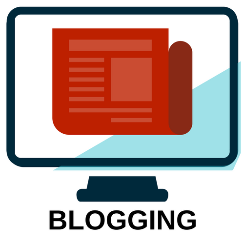 image of blogging page