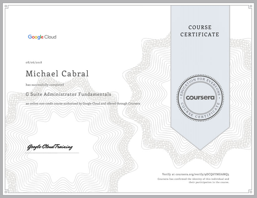image of g suite adminstrator certification